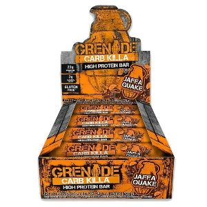 Grenade Carb Killa Bar-Jaffa Quake Box