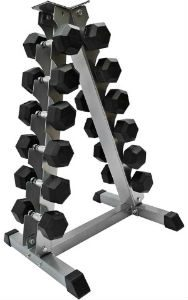 Dumbbell rack for bodybuilders and weightlifters
