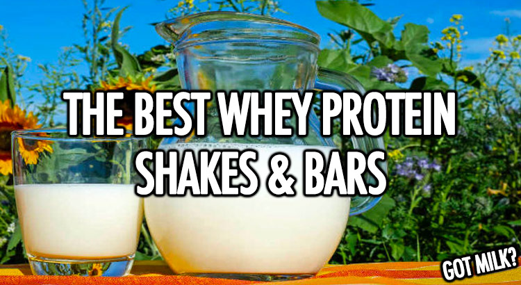 Best whey protein shakes and bars