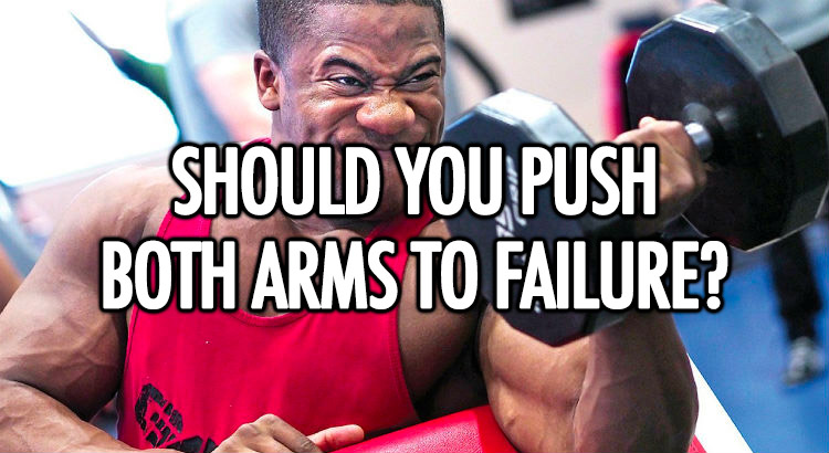 Should you push each arm to failure?